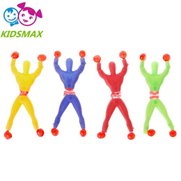 10 pcs Sticky Elastic Spider Man Fun Stretchy Kids Toy Wall Climbing Super Hero Figure   ATF400