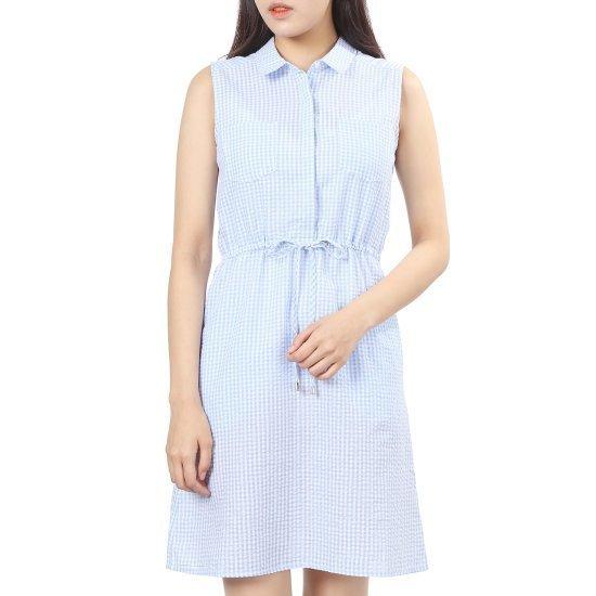 プラストーリープラスチックアイルランド、袖なしの高チェックワンピースPH2WO631 面ワンピース/ 韓国ファッション