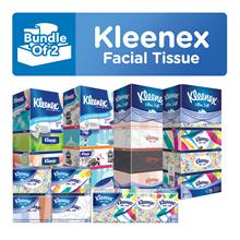 Bundle OF 2 [KLEENEX] Facial Tissues (Tsum Tsum/Classic/Garden/Lifestyle/Natural/Refresh Floral)
