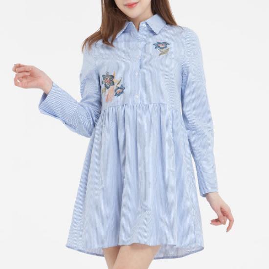 ミソ自首ポイントシャツ、ワンピースMIWOW7321S 面ワンピース/ 韓国ファッション