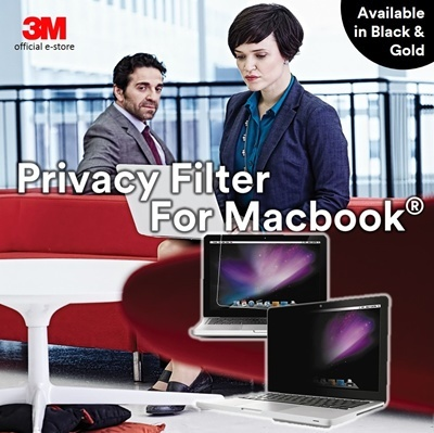 3M[Official E-Store] 3M™ Privacy Screen Filter For Apple® MacBook® Air -  Black / Gold