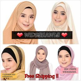 NOV SPECIAL !! Wideshawls-Chiffon/ Bubble/ Moss Crepe/ Cotton/ Satin/ Silk | Muslimah |