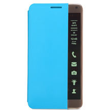 [PU LEATHER LED SMART TOUCH PHONE CASE FLIP STAND AUTO SLEEP COVER FOR HUAWEI MATE 7] PU LEATHER LED