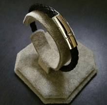 Gelang Kulit Magnet Jepit Premium Quality 12815