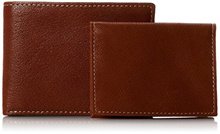 AUTHENTIC Timberland Mens Genuine Leather Wallet Gift Box Cavalieri Bifold Removable Passcase Brown