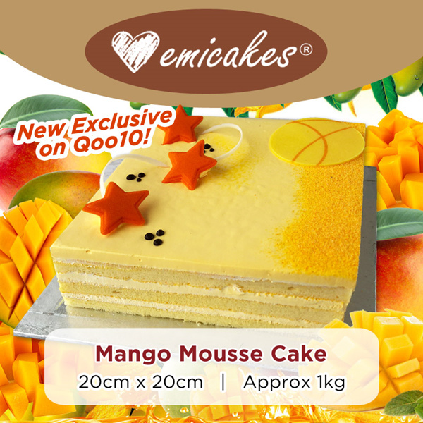 [Emicakes] Classic Mango Mousse Cake Deals for only S$38.8 instead of S$0