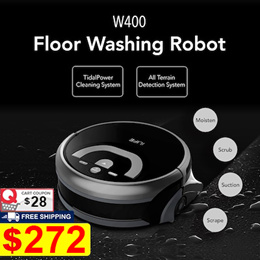[NEW] ILIFE W400 Floor Washing Robot Voice Assistance Navigation Large Water Tank Kitchen Cleaning