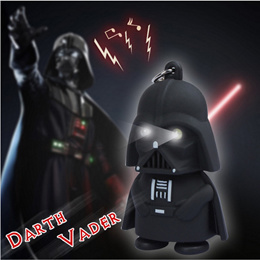★Star Wars Keychain with Light and Sound - Darth Vadar Stormtrooper Toy Keychain Glowing Light and Sound Effect ★ Best Gift for Star Wars Fan ★