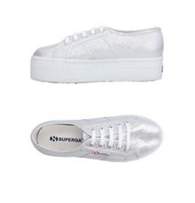 Superga Silver Platform Sneakers Women 41 Shoes 9.5 metallic lace up
