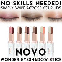 NOVO EYESHADOW STICK * OMBRE * ONE STEP/SWIPE APPLICATION * SMOKEY EFFECT * SHIMMER