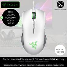Razer Lancehead Tournament Ambidextrous Gaming Mouse Gunmetal/Mercury Edition