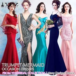 Trumpet/Mermaid Evening Maxi Lace Dress Bridesmaid Gowns Formal Dress Long Prom Dress Banquet Dress