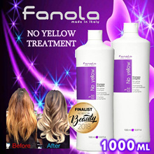 Super Value 1000ML!  Fanola Italy No-yellow treatment purple shampoo 1000ml. Most popular shampoo!