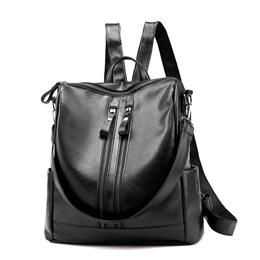 Women Leather Backpack Waterproof Zipper Single Shoulder Bag School Bag