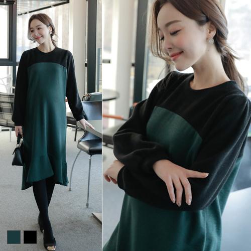 [SOIM] [SOIM] 韓国の高級ワンピース / フリーサイズ / ♥体型カバーになる♥  / 冬ワンピース / マタニティ ワンピース / 韓国大人気 / すべての女性の着用可能
