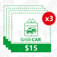 GrabCar $15 x 3 Promo Code [Click Link In Email to Redeem*Fast  Instant*No need to enter Promo Code]