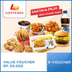 ☆Lotteria☆ Value Voucher Rp.50000 ☆ Only Qoo10 Big Discount Deal ☆ Mobile voucher only