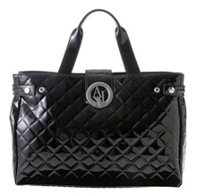 ARMANI Jeans ARMANI JEANS / Tote Bag # B 5230 V4 12 BLACK [Large items can also be wrapped!] New Year's first selling big special price!