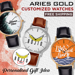 [H2HUB] ARIES GOLD MADE-TO-ORDER CUSTOM SERIES WATCH! FREE SHIPPING!