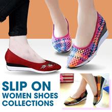 Sepatu rajut wanita sepatu slip on rajut