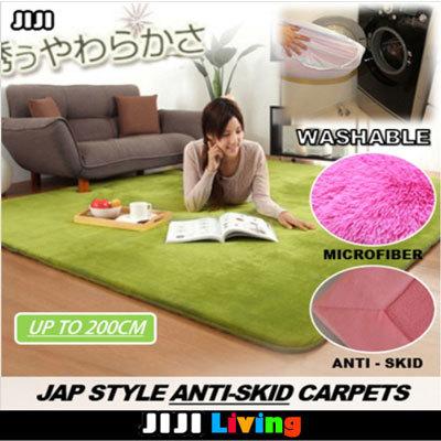 e6729fb6f0ea ☆200cm Floor Carpets ☆Memory Foam ☆Silky ☆Microfiber ☆Water Absorbent ☆Round