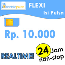 Pulsa FLEXI Rp. 10.000- REALTIME 24 jam non-stop! Menambah Masa Aktif (Mohon baca cara pengisian di bawah)
