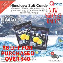 [SGD $32 Only!!! For Purchased Over $40] - Himalaya Salt Candy 1Box ~ 12Box ( 1box= 15g * 12pack) got deduction $8 Off until 28th JAN