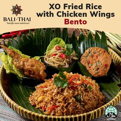B4 XO Fried Rice w Chicken Wings Bento