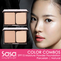 ♥ COLOR COMBOS ♥ SPF15 MOISTURE POWDER FOUNDATION ♥ PORCELAIN ♥ NATURAL ♥
