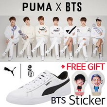[ PUMA] MAKE $86 / USE Qoo10 couopon $12 / FREE GIFT-BTS STICKER★/ PUMA X BTS 防弹少年团 COURT STAR / Sneakers / Photocard / PUMA