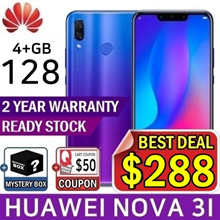 [Free Delivery!!!]Huawei Nova 3i 128GB/4GB Ram Purple/Black Local Set 2Years Warranty