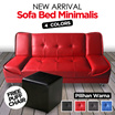FREE SHIPING JABODETABEK /Sofa bed minimalis AVAILABLE IN 4 COLOURS FREE PUFF CHAIR