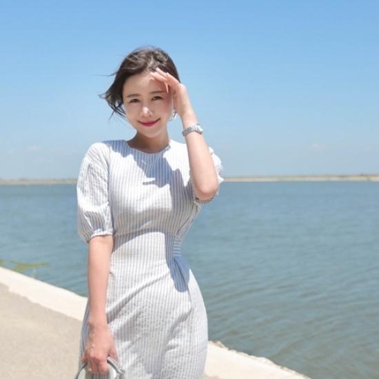 悪女日記】アンド・ストライプワンピース 綿ワンピース/ 韓国ファッション