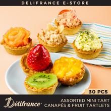 Delifrance Bundle of 30 Assorted Mini Tart Canapés And Fruit Tartlets
