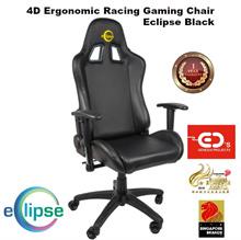 Eclipse 4D Ergonomic Racing Gaming Chair - Eclipse Black4D 인체 공학적 레이싱 게임 의자 이클립스 - 블랙 이클립스
