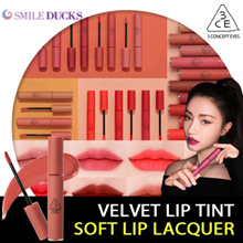 🎁 Add Quantity - Crazy price only today! 🎁[3CE] Velvet Lip Tint - 4g / Soft Lip Lacquer - 6g
