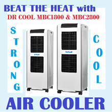 MBC1800 DR COOL EVAPORATIVE Honeycomb AIR COOLER STRONG FAN COOL WIND 1800m3/Hr FAST COOLING MBC1800