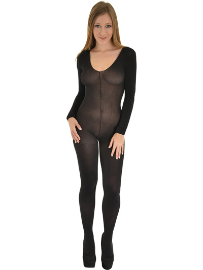 c49ba1cfc Womens Opaque Long Sleeve Crotchless Bodystocking Christmas Decoration