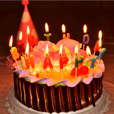 3 Style Happy Birthday Candle Glitz Party Glitter Moulded Cake Candles Decoration