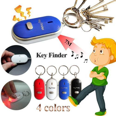 Whistle Sound Led Light Anti-lost Alarm Remote-control Key Finder Locator Keychain With Flash Device Random Color Security & Protection