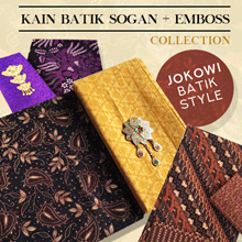 Sogan Batik Cloth + Emboss Collections - Batik Pekalongan - Jokowi Batik Style