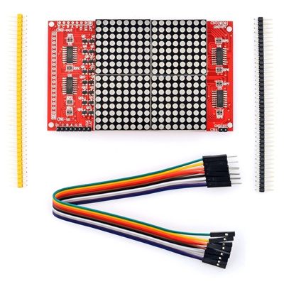 16x16 LED Dot-Matrix Screen Module with Dupont Cables / Pin Headers for  Arduino