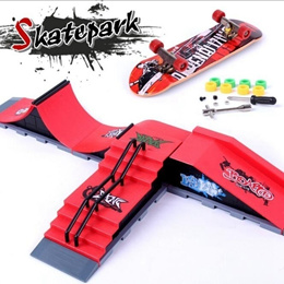 NEW Arrival A Type Skate Park Ramp Parts for Tech-Deck Fingerboard Finger Board Children Kid s Toy G