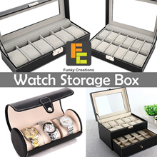 [Funky Creations] Luxury Watch Boxes Jewellery Boxes Storage Box Premium PVC