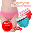 【Without Option Price】【Local Seller】✫New Style✫ Candy Color Bamboo Fiber And Lace Seamless Sexy Ladies Panties ✫ Buy 40 In 1 Shipping ✫✫