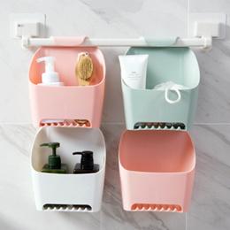 Free punching bathroom shelf bathroom wash rack Toilet plastic wall hanging shelf storage rack