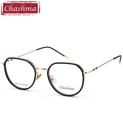 Chashma Brand Octagon Glasses Transparent Lenses Eyeglass Frame Fashion  armacao para oculos de grau e484712f49