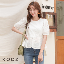 KODZ - Oversized Sleeves Crop Top-190464