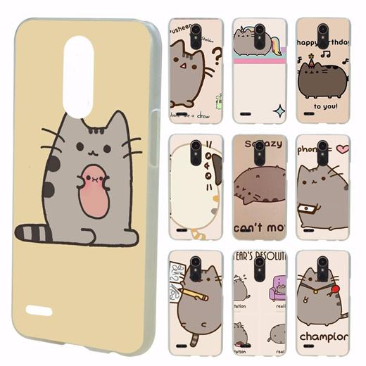 Qoo10 Cute Funny Lovely Pusheen Cat Print Design Transparent Clear Hard Case Mobile Accessori