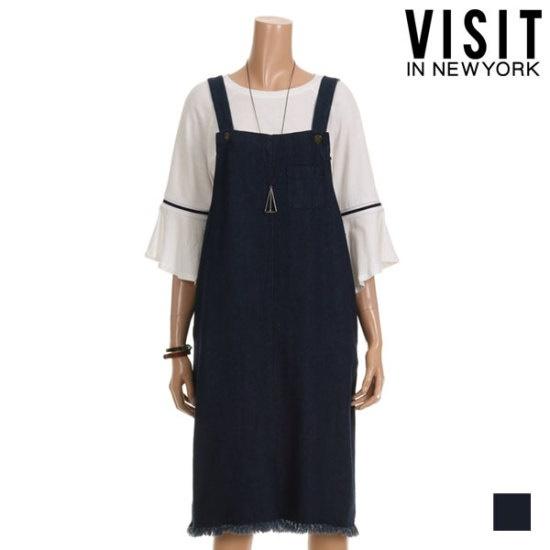 ・ビジット・インニューヨーク下のだんの手術デニムのズボン吊りワンピースVTHOP33 面ワンピース/ 韓国ファッション